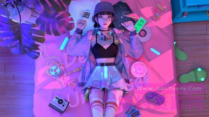 赛博朋克风格奇幻少女 集原美电脑4k壁纸3840x2160_网.jpg